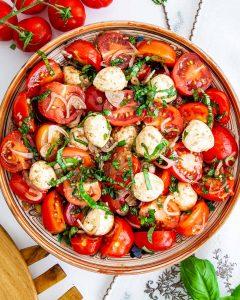 سالاد گوجه فرنگی کباب شده در فر